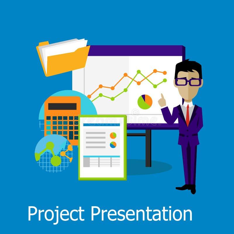 Projekt prezentaci pojęcia projekta styl ilustracja wektor