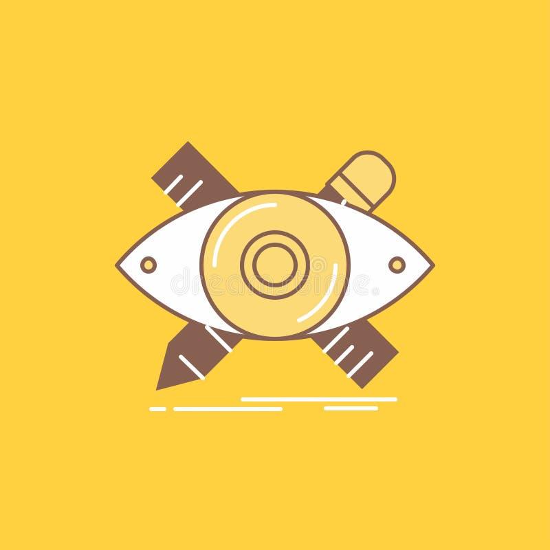 projekt, projektant, ilustracja, nakreślenie, narzędzia mieszkania linia Wypełniał ikonę Pi?kny logo guzik nad ? ilustracji