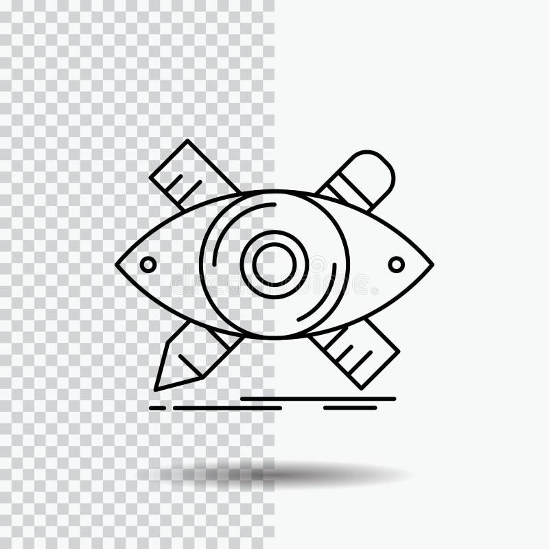 projekt, projektant, ilustracja, nakreślenie, narzędzia Wykłada ikonę na Przejrzystym tle Czarna ikona wektoru ilustracja royalty ilustracja