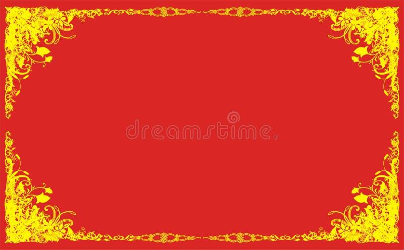 projekt retro kwiecisty tło royalty ilustracja