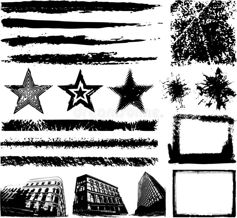 projekt rysująca elementów grunge ręka ilustracja wektor