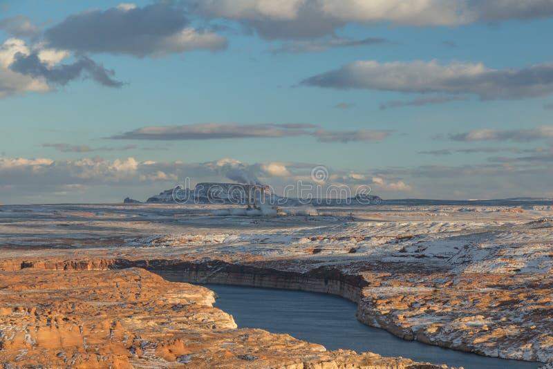 Projekt Salt River - Navajo Generator Station na stronie USA obrazy royalty free