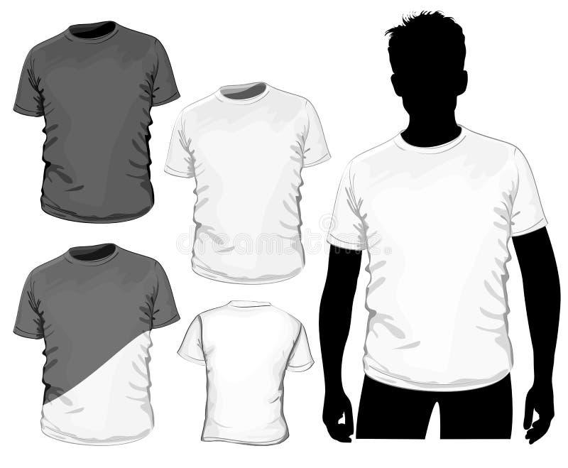 projekt siatka koszula żadny szablon t royalty ilustracja