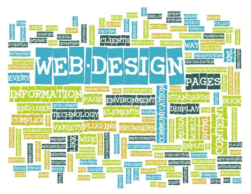 projekt sieć ilustracja wektor