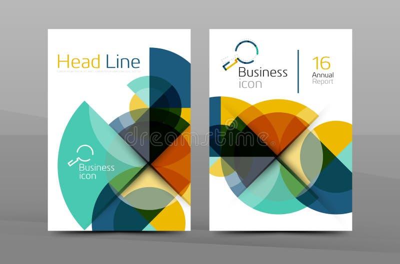 Projekt sprawozdanie roczne pokrywy broszurka royalty ilustracja