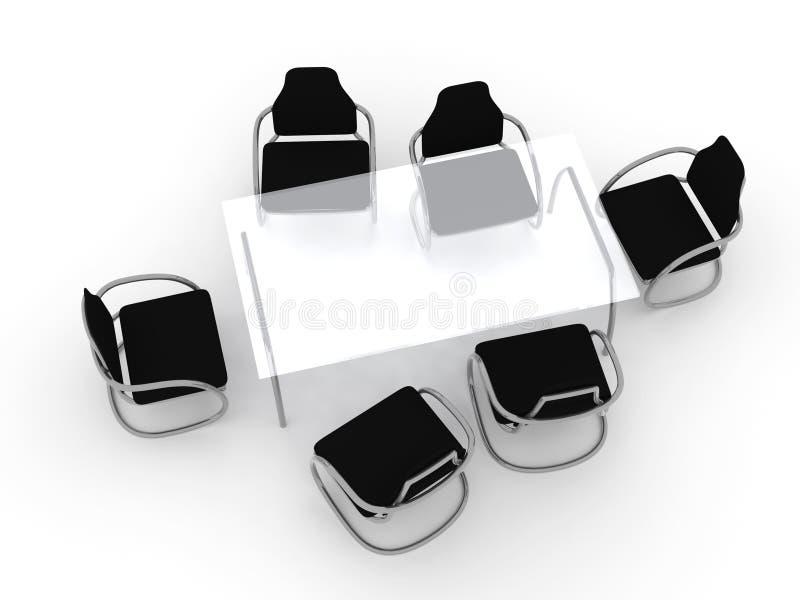 projekt tabeli krzesło ilustracji