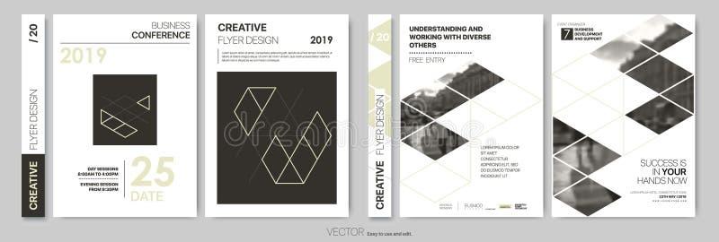 Projekt ulotki Minimalistic abstrakcjonistyczni szablony - zapas ilustracji