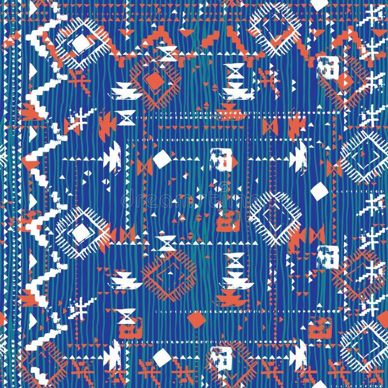 Projekt w aztec stylu z ręką malował szewron royalty ilustracja