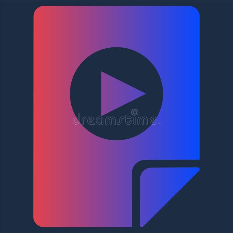 Projekt Wideo kartoteki formata Audio Multimedialna ikona ilustracji