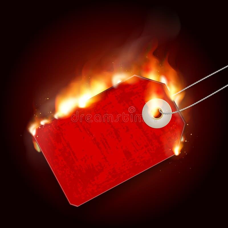 Projekt z ogieniem gorąca sprzedaży ilustracji