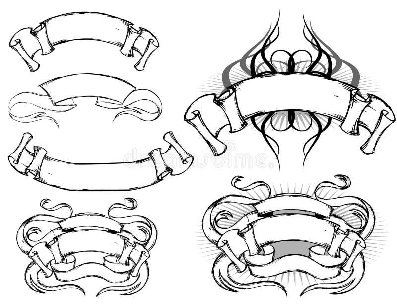 projekta ślimacznicy set ilustracji