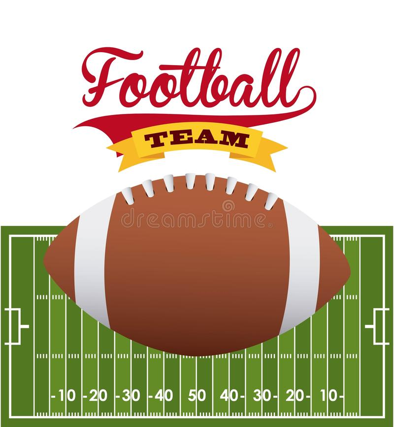 projekta amerykański futbol ilustracja wektor