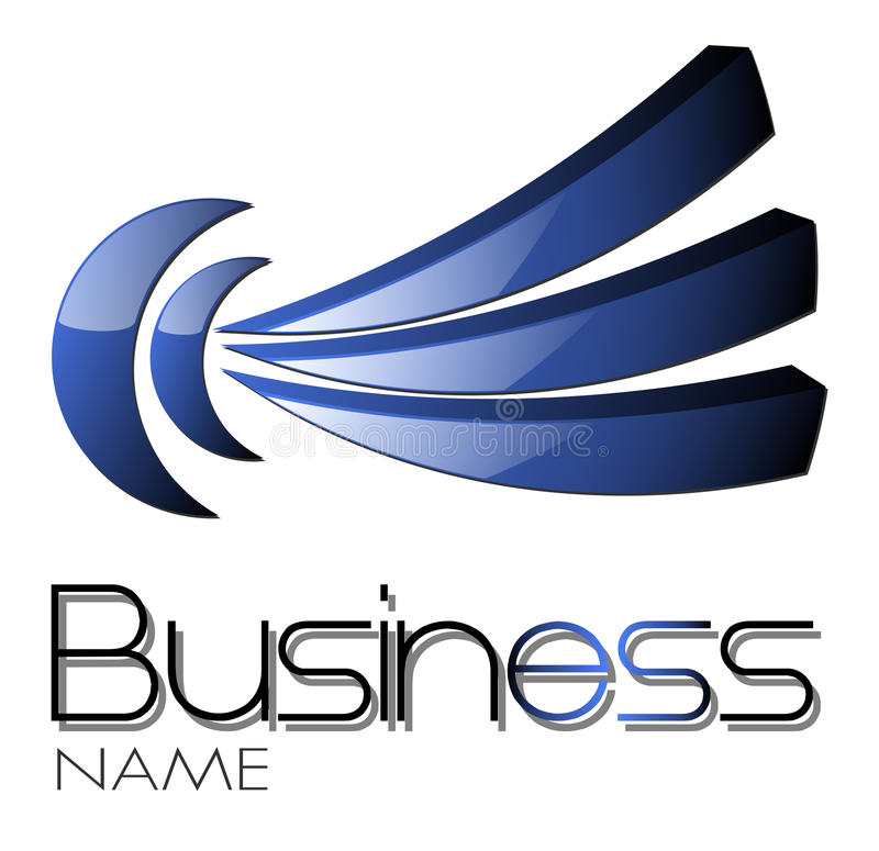 projekta błękitny logo ilustracji