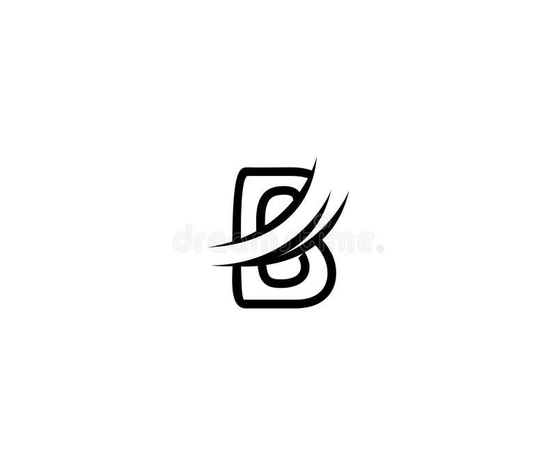 Projekta b listu ostrza Swoosh monograma Nowożytny logo ilustracja wektor