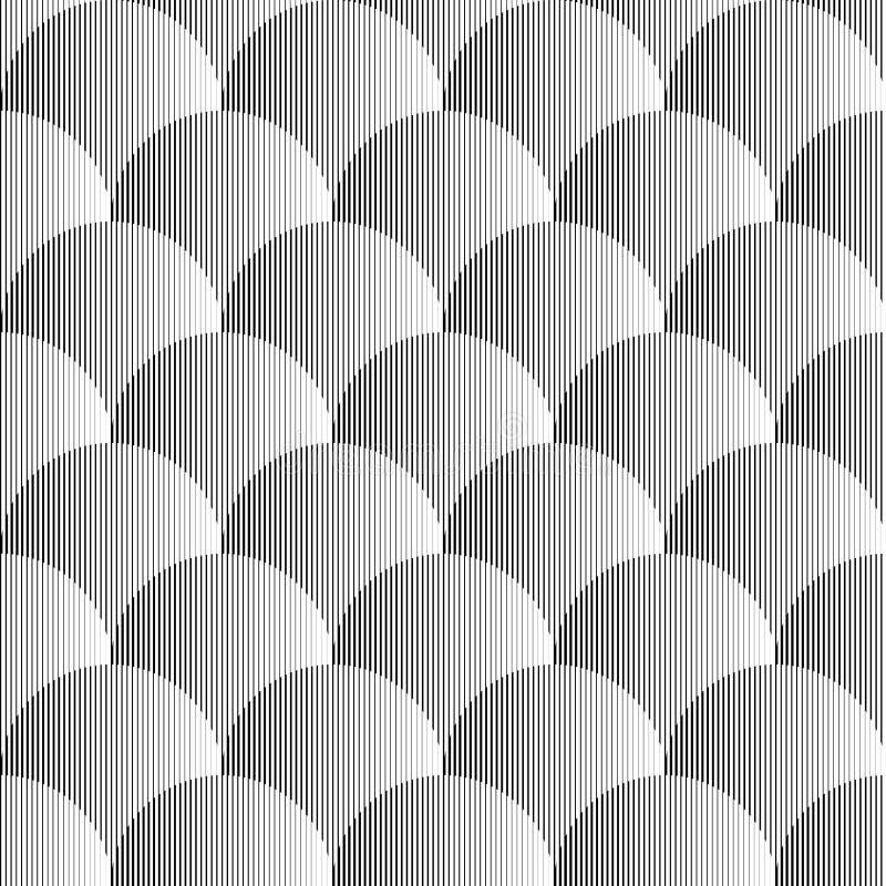 Projekta bezszwowy monochromatyczny wolumetryczny wzór ilustracja wektor
