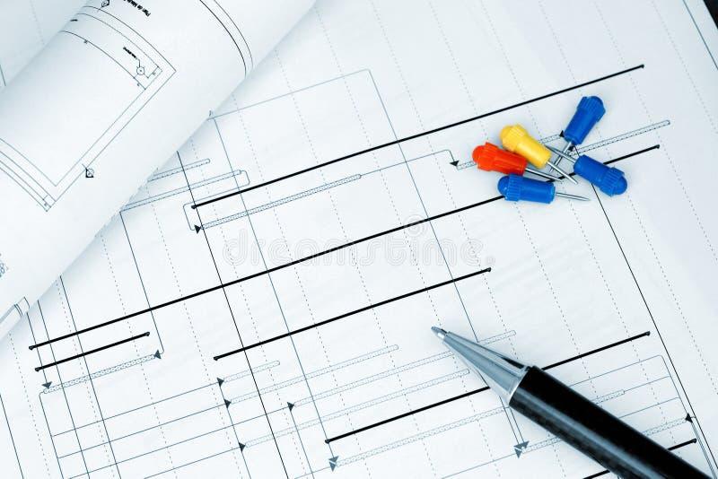 projekta budowy planowania projekt zdjęcia royalty free
