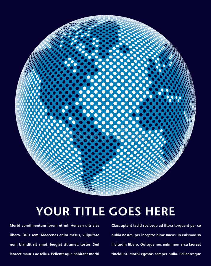 projekta cyfrowy mapy świat ilustracji