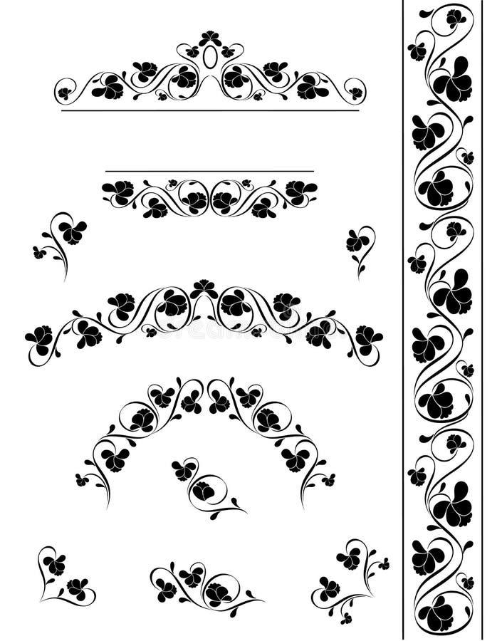 projekta deseniowy rocznik ilustracja wektor