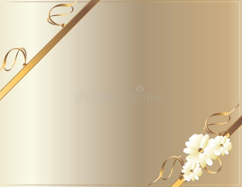 projekta diagonalnego kwiatu złocisty biel ilustracja wektor