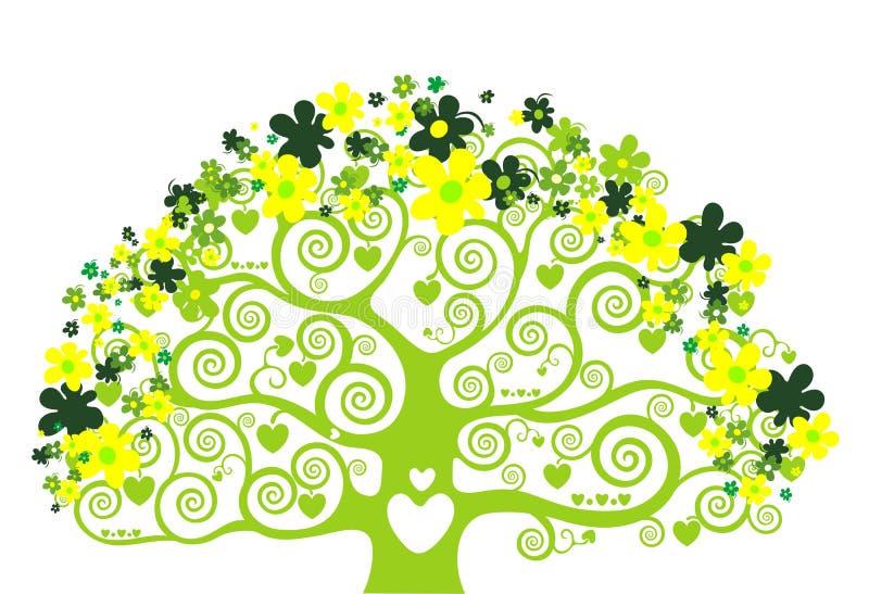 projekta drzewo zielony ilustracyjny ilustracja wektor