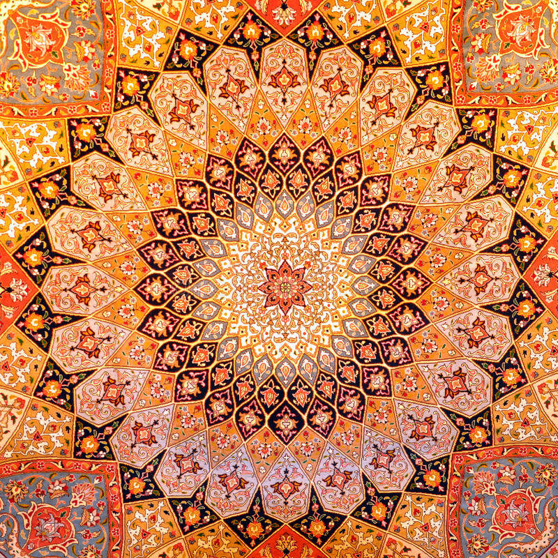 projekta dywanowy pers zdjęcie royalty free