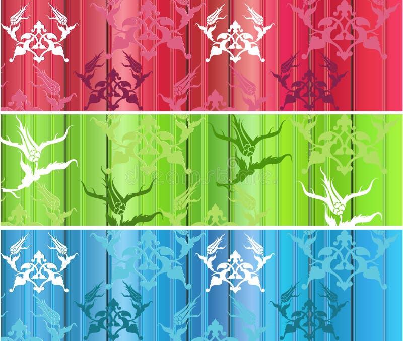 projekta eleganckiego ottoman tradycyjny tulipanowy turkish ilustracja wektor