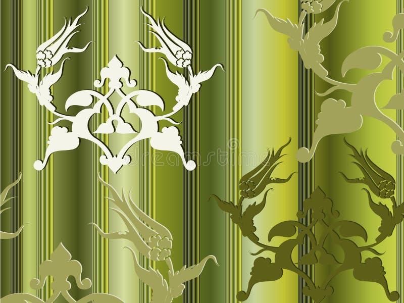 projekta eleganckiego ottoman tradycyjny tulipanowy turkish royalty ilustracja