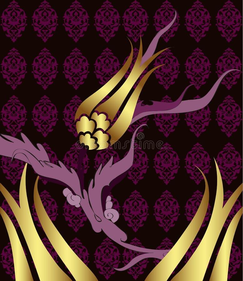 projekta eleganckiego złotego ottoman tradycyjny turkish royalty ilustracja