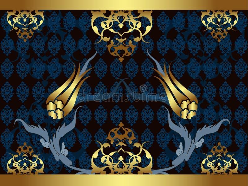 projekta eleganckiego złotego ottoman tradycyjny turkish ilustracja wektor