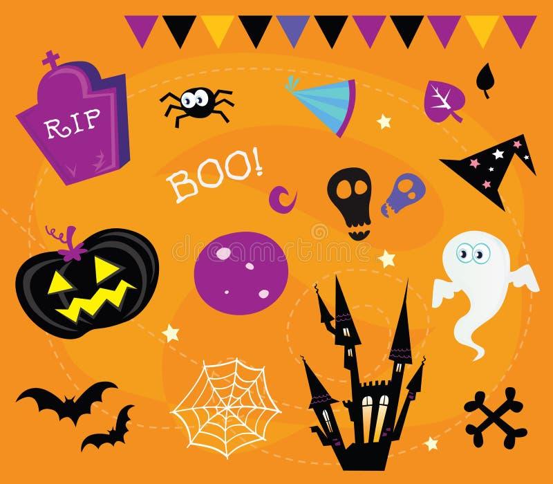 projekta elementów Halloween ikony ilustracji