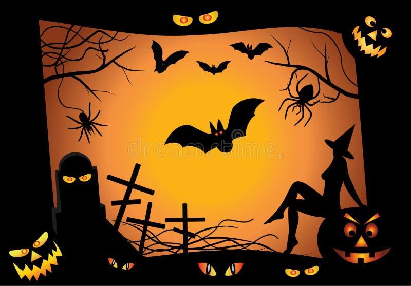 projekta elementów Halloween wektor ilustracja wektor