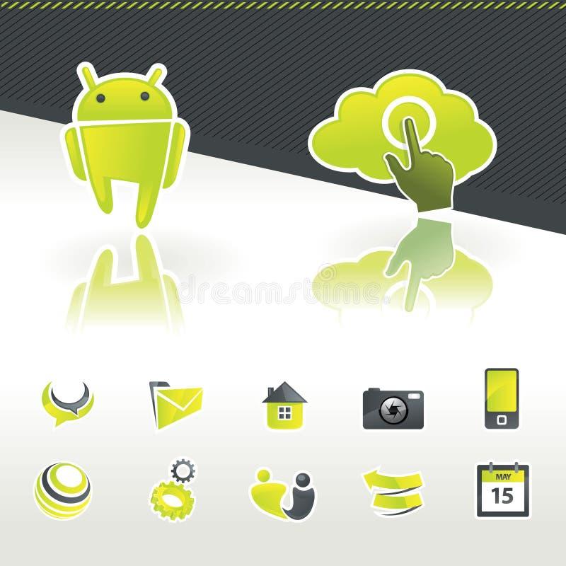 projekta elementów ikona royalty ilustracja