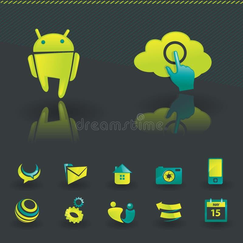 projekta elementów ikona ilustracji