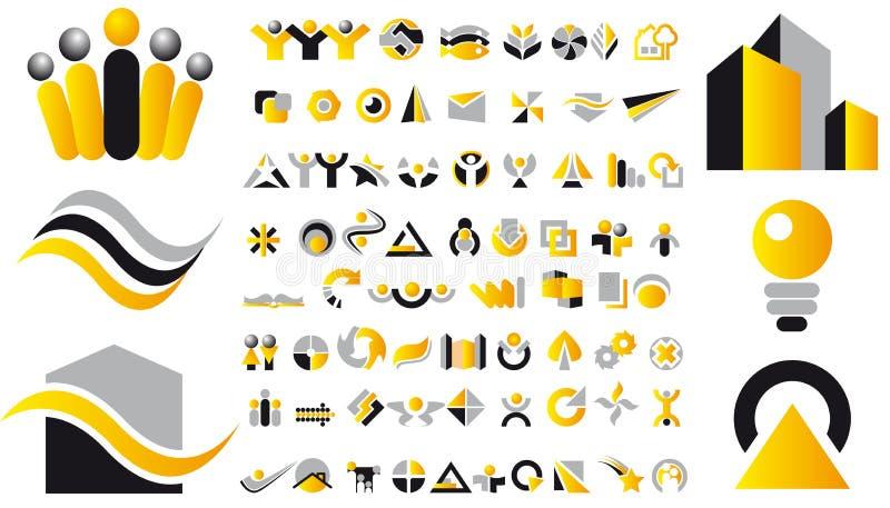 projekta elementów loga wektor ilustracji
