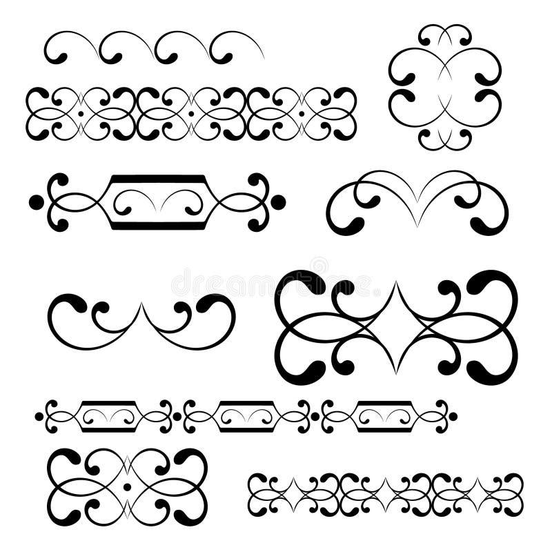 projekta elementów monogramów zawijas ilustracja wektor