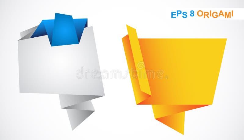 projekta elementów origami ilustracja wektor
