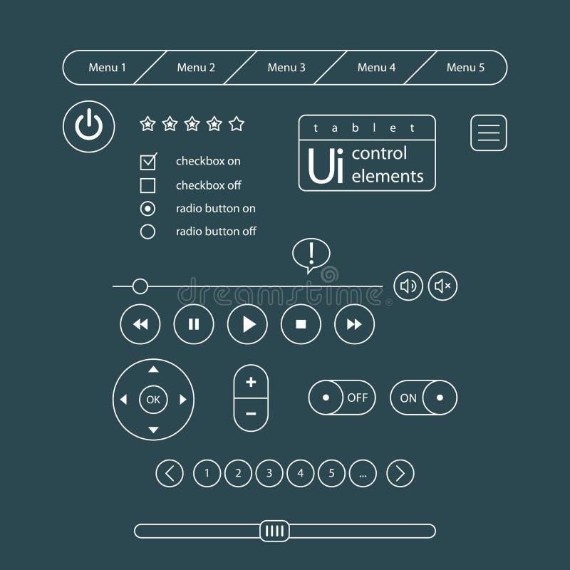 projekta elementów szara ui sieć royalty ilustracja