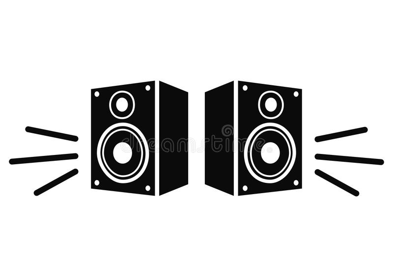 projekta elementu ikony głośnikowy miastowy twój royalty ilustracja