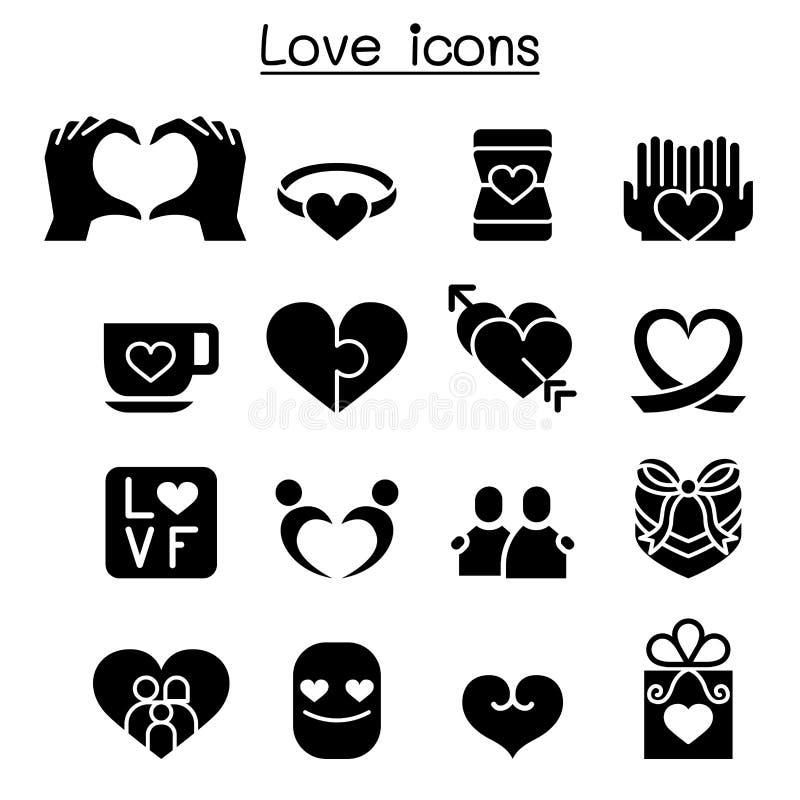 projekta elementu ikony ilustracyjny miłości set ilustracja wektor