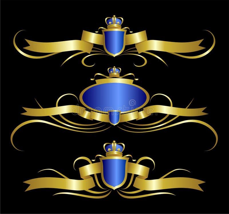 projekta elementu złoty królewski zdjęcia royalty free