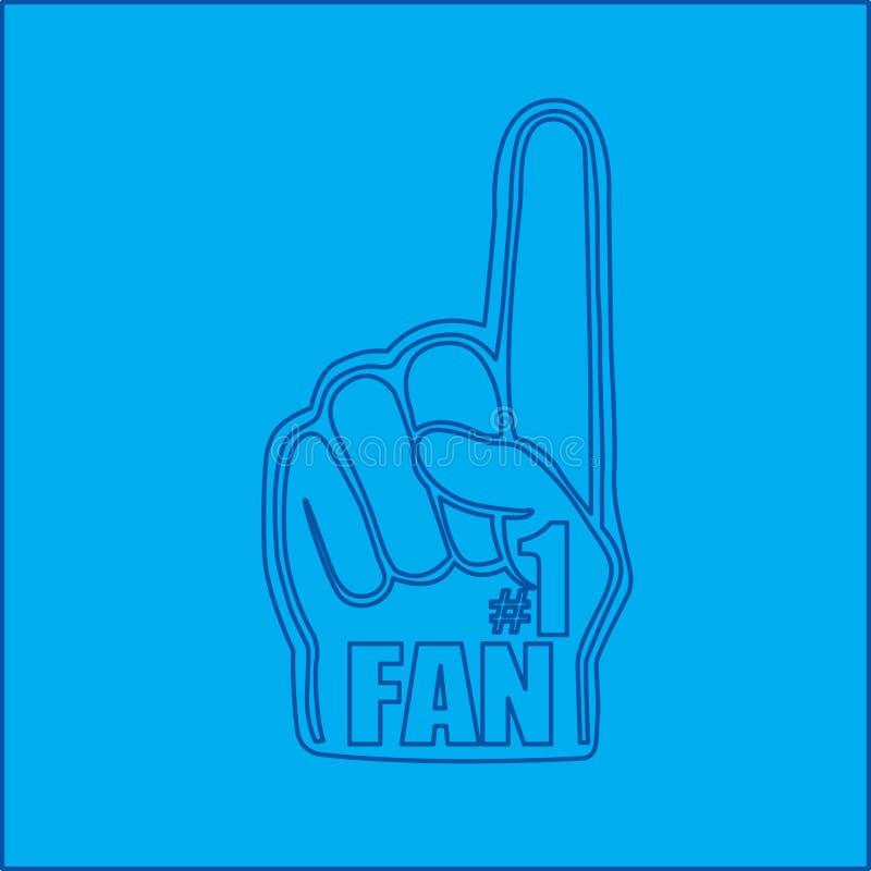 projekta fan ręka liczba jeden ilustracji