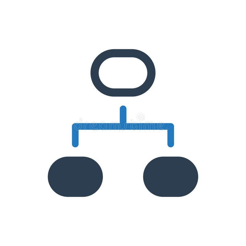 Projekta flowchart ikona ilustracji
