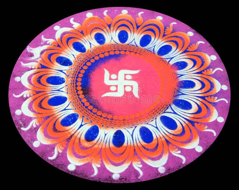 projekta hindusa rangoli fotografia stock