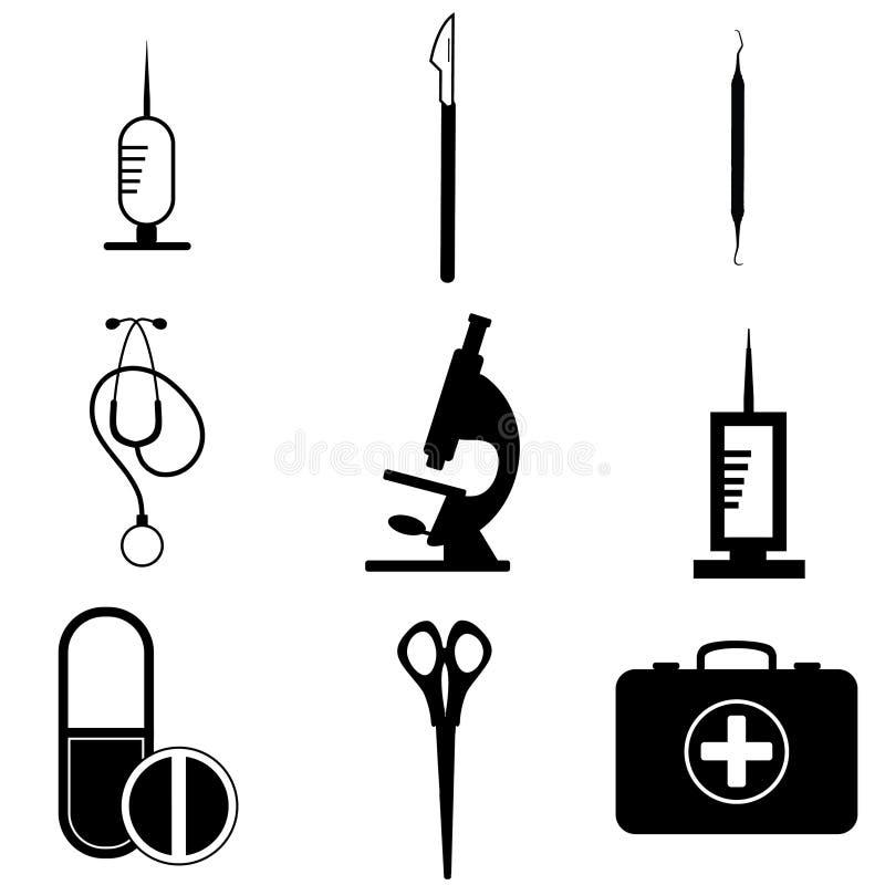 projekta ikon wizerunku medyczny set zdjęcia royalty free