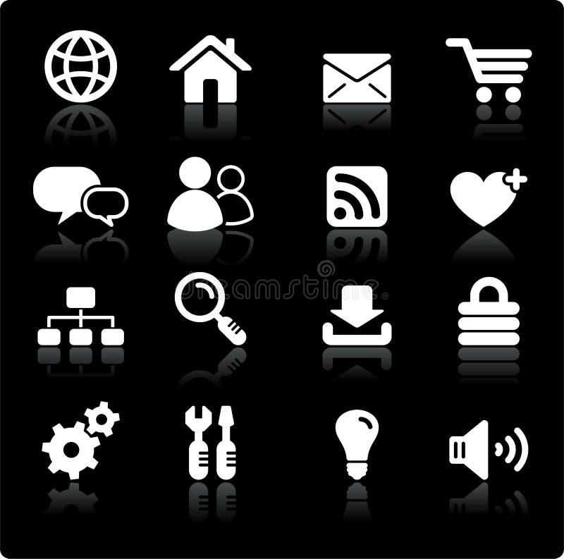 projekta ikony internetów set royalty ilustracja