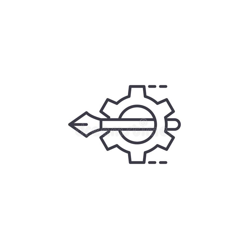 Projekta projekta ikony liniowy pojęcie Projekta projekta linii wektoru znak, symbol, ilustracja ilustracja wektor