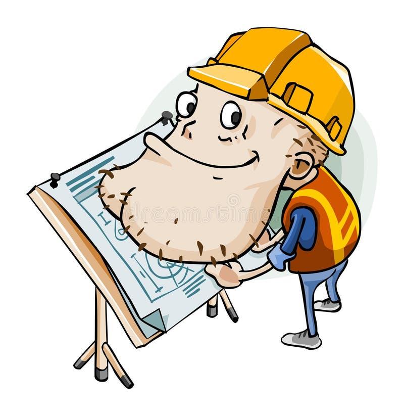 projekta inżynier ilustracji