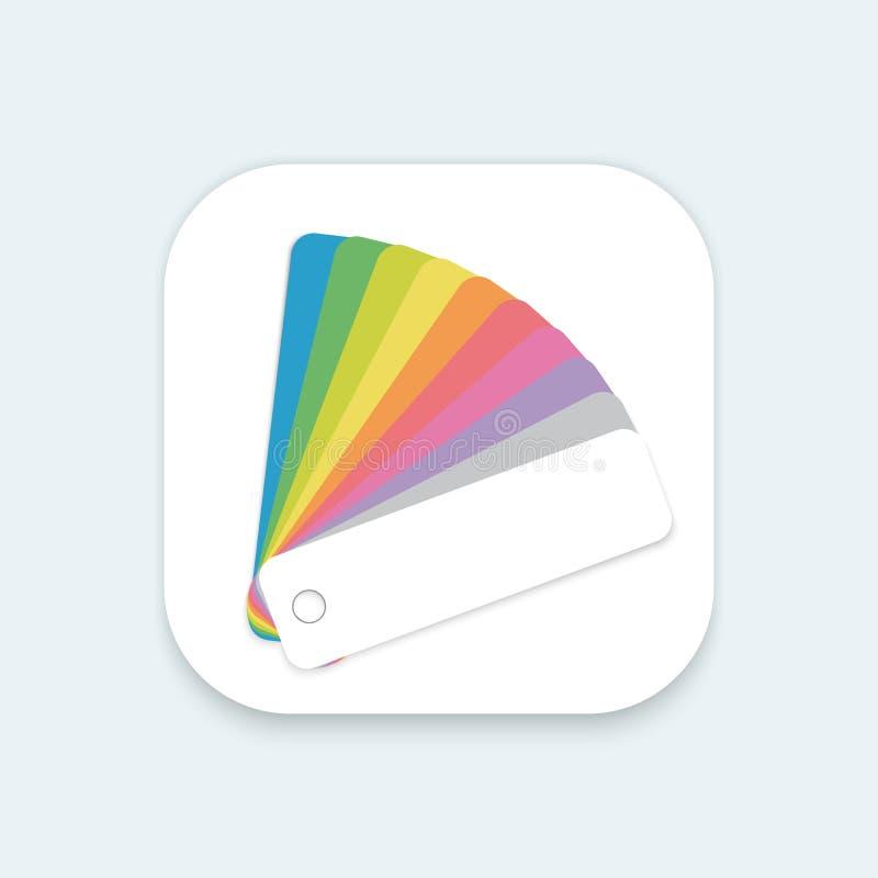 Projekta koloru przewdonika fan Płaskiej Wektorowej wiszącej ozdoby OS Podaniowa ikona fo ilustracji