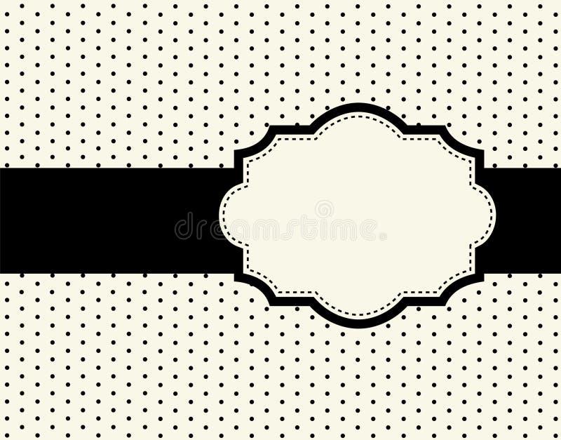 projekta kropki ramy polka royalty ilustracja