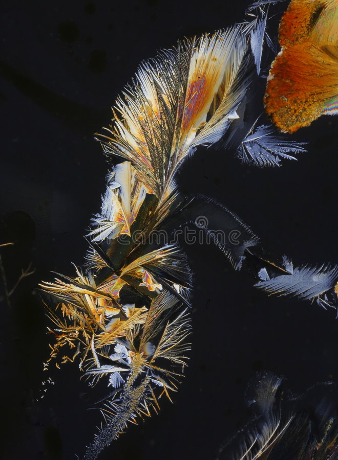projekta krystalizujący sulphur zdjęcie royalty free